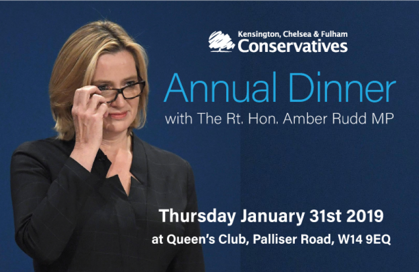 Annual Dinner with Amber Rudd MP